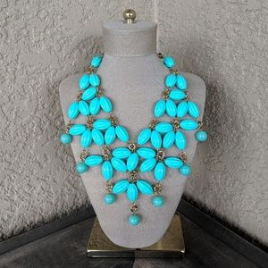 Bohemian Mint Green Beaded Statement Necklace